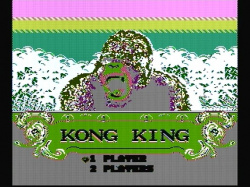 Kong King title screen with wrong colours