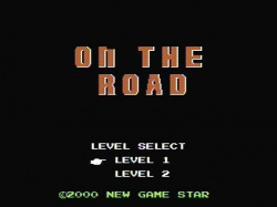 On the Road title screen