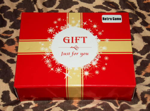 "Generic ""gift just for you"" box with ""Retro Game"" label"